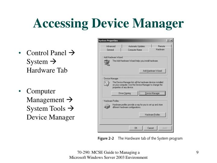Accessing Device Manager