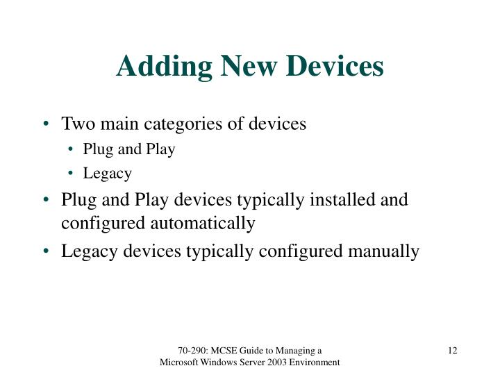 Adding New Devices