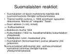 suomalaisten reaktiot