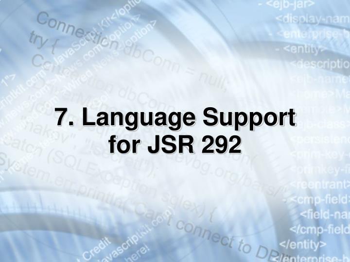 7. Language Support for JSR 292