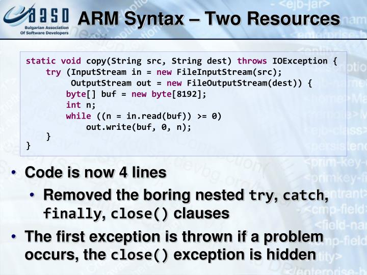 ARM Syntax – Two Resources