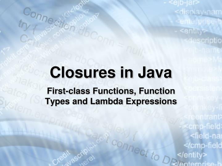 Closures in Java