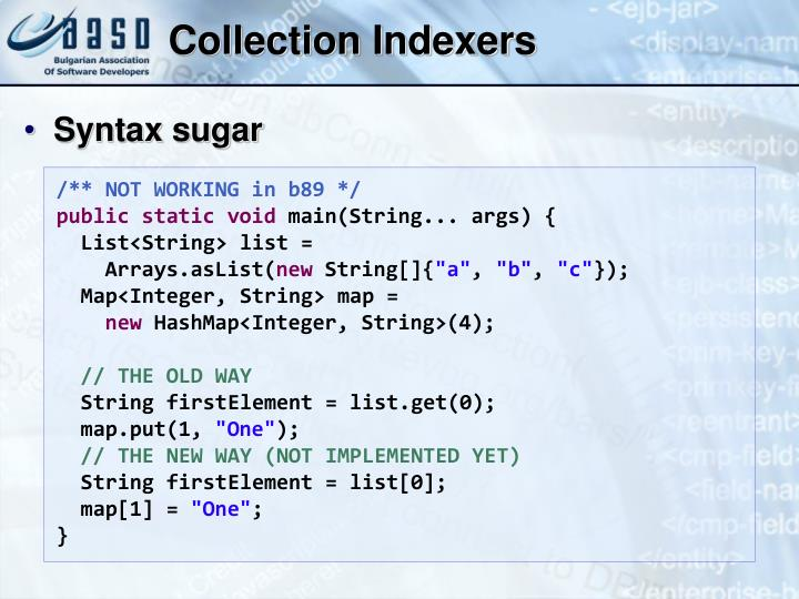 Collection Indexers