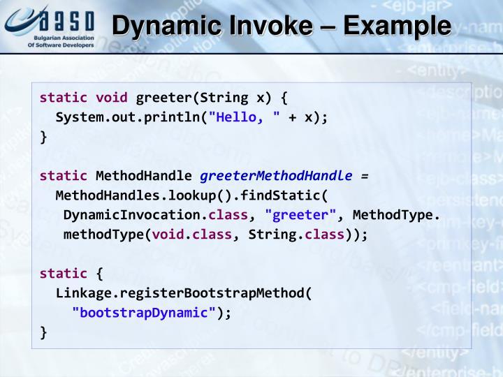 Dynamic Invoke – Example