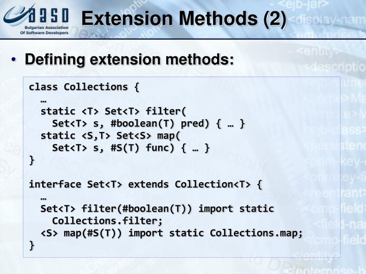 Extension Methods (2)