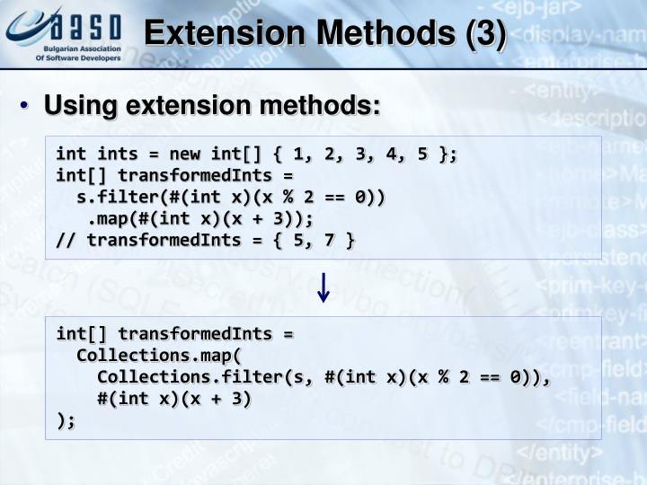 Extension Methods (3)