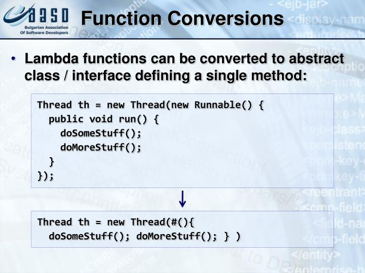 Function Conversions