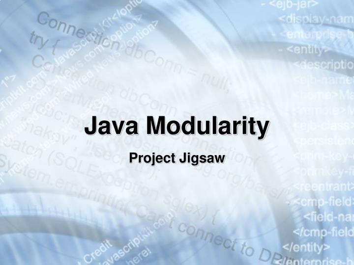 Java Modularity