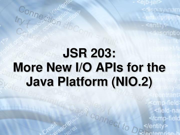 JSR 203: