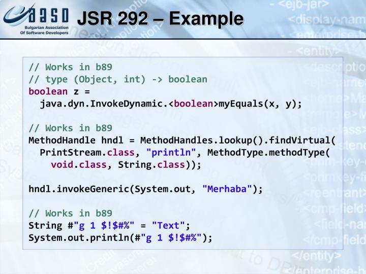 JSR 292 – Example