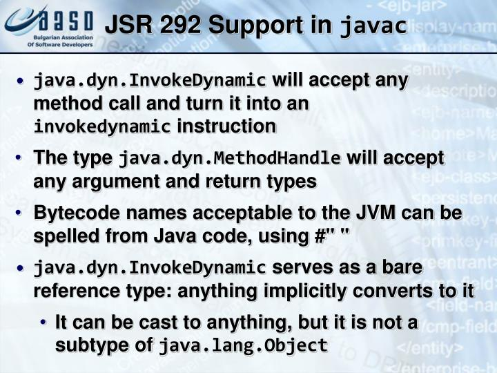 JSR 292 Support in