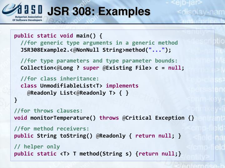JSR 308: Examples