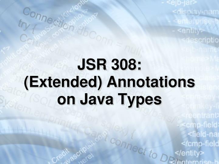 JSR 308: