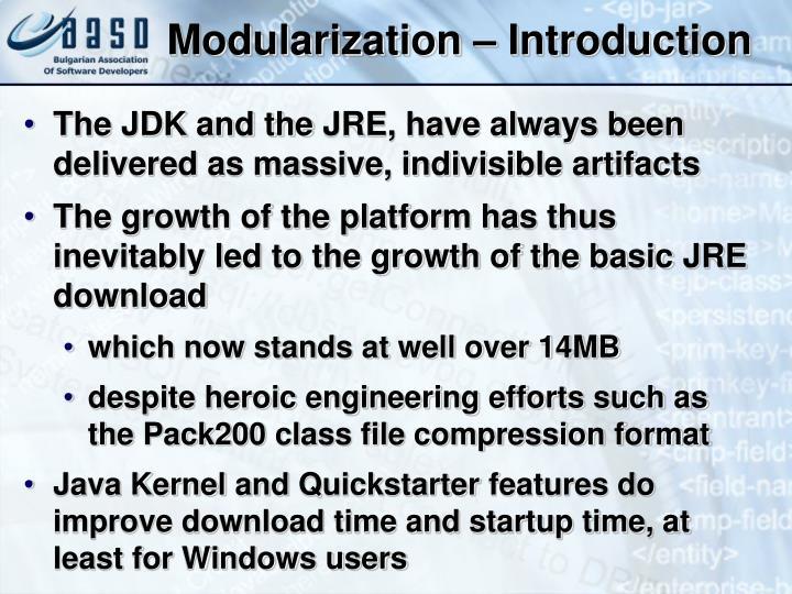 Modularization – Introduction