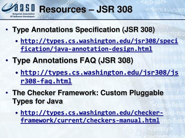 Resources – JSR 308