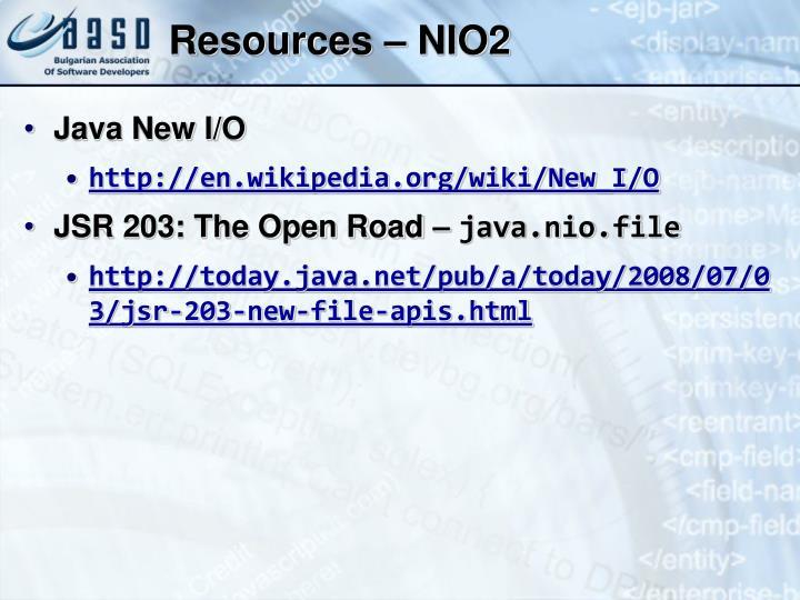 Resources – NIO2