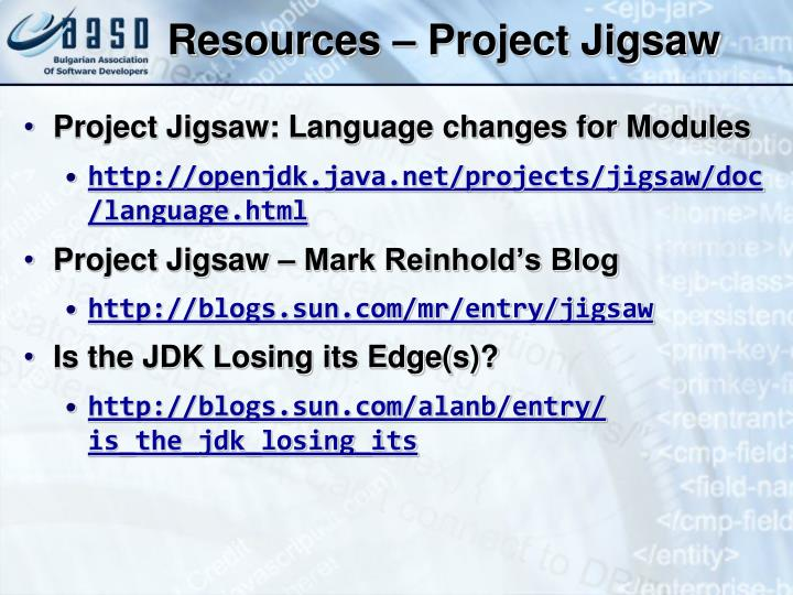 Resources – Project Jigsaw