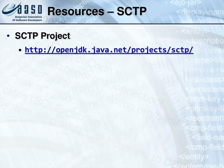 Resources – SCTP