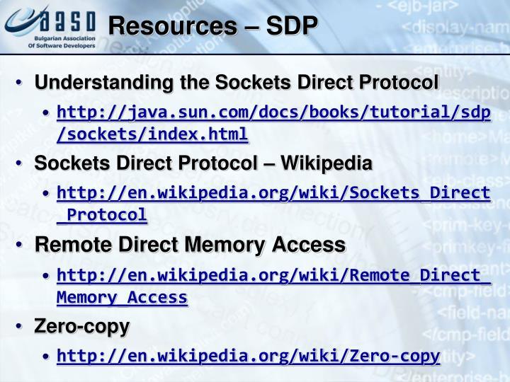 Resources – SDP