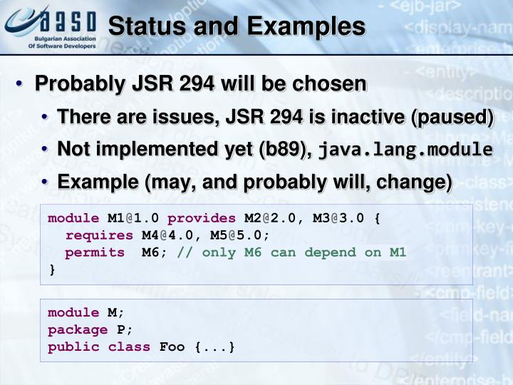Status and Examples
