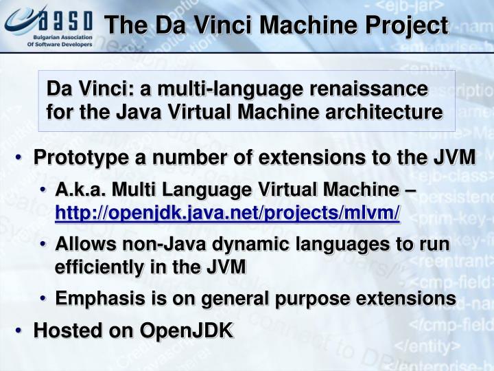 The Da Vinci Machine Project