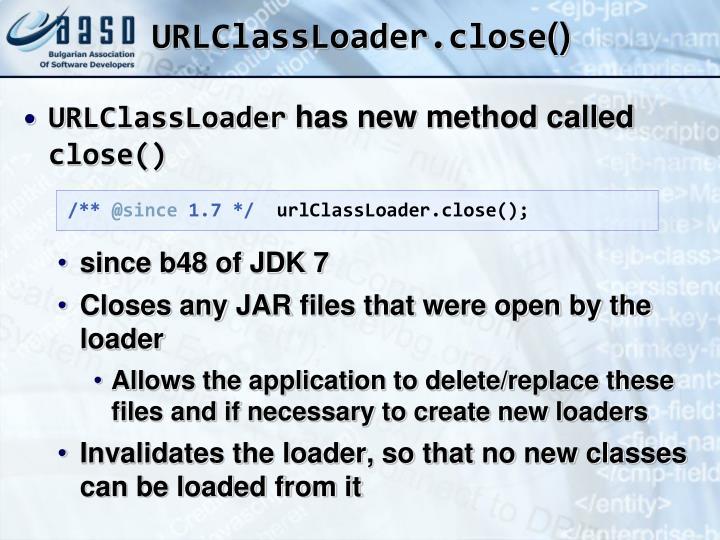 URLClassLoader.close