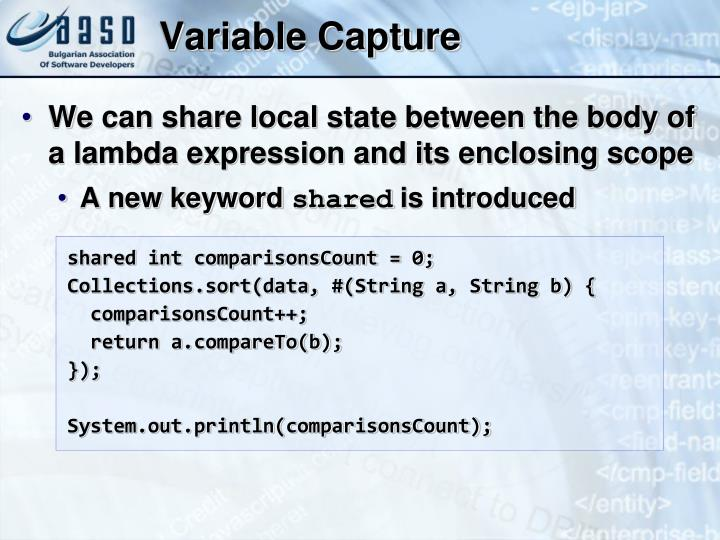 Variable Capture