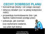 cechy dobrego planu