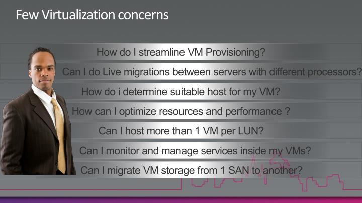 Few Virtualization concerns