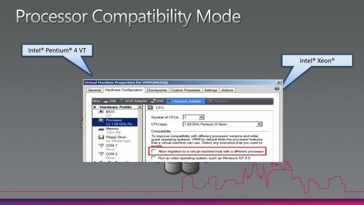 Processor Compatibility Mode