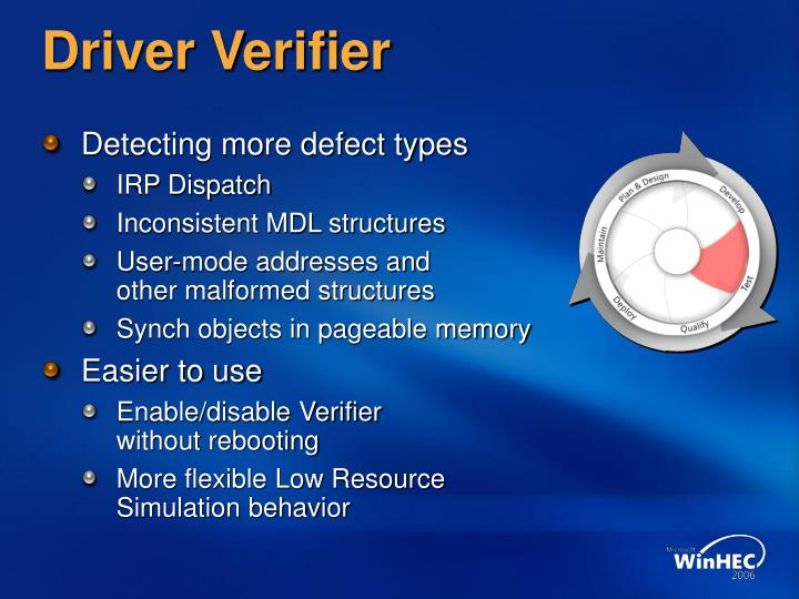 Driver Verifier