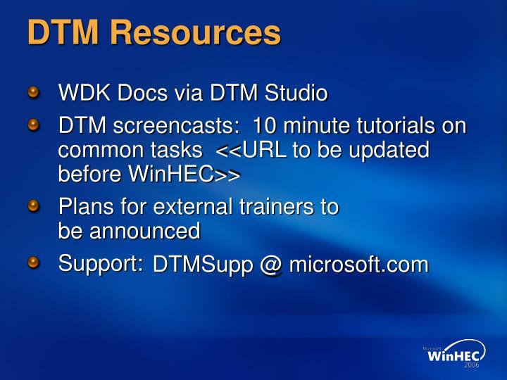 DTM Resources