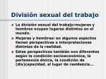 divisi n sexual del trabajo