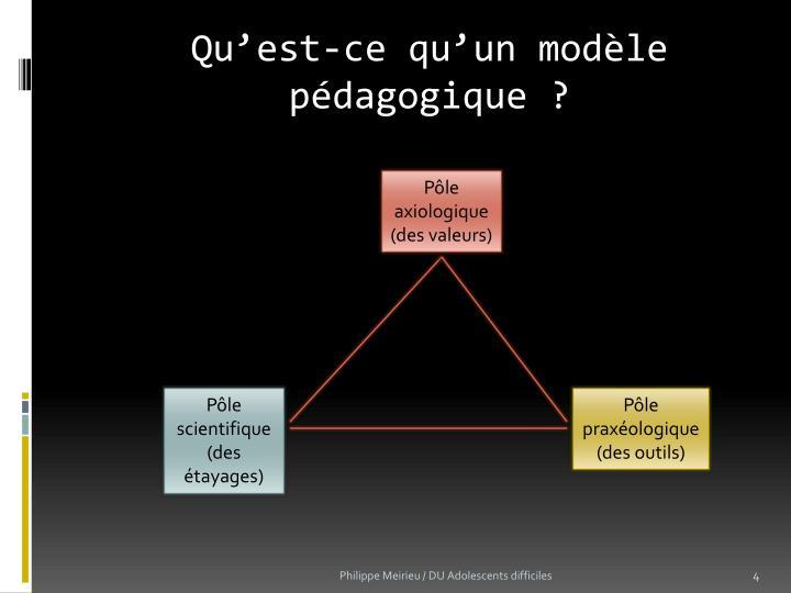 Qu'est-ce qu'un modèle pédagogique ?