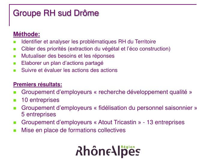 Groupe RH sud Drôme