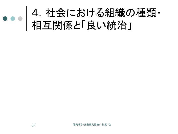 4.社会における組織の種類・