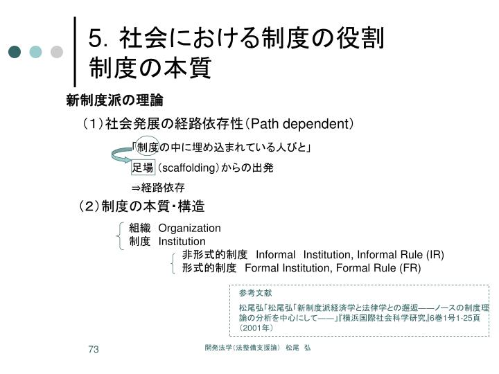 (1)社会発展の経路依存性(