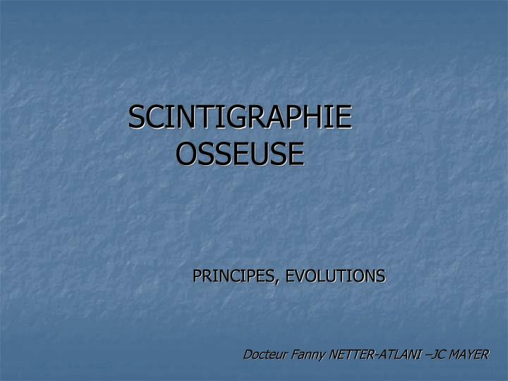 scintigraphie osseuse n.