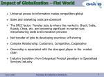 impact of globalization flat world