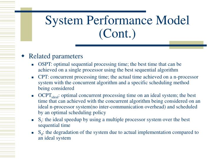 System Performance Model (Cont.)