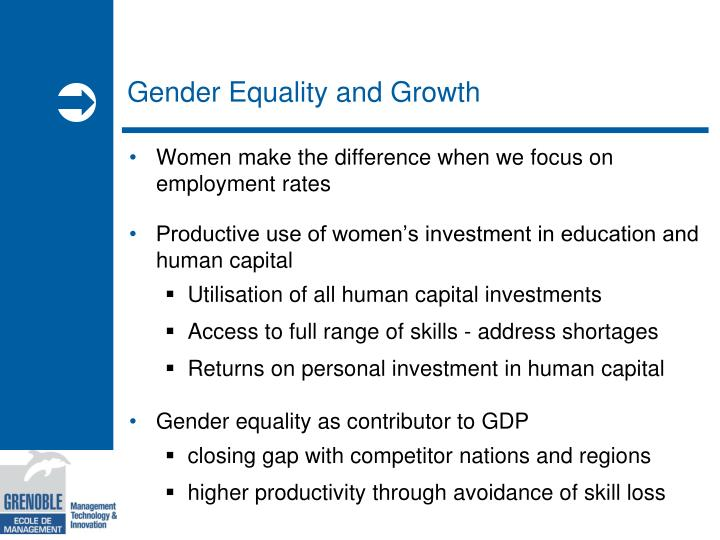 Gender equality and growth