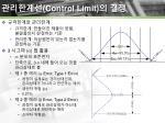 control limit