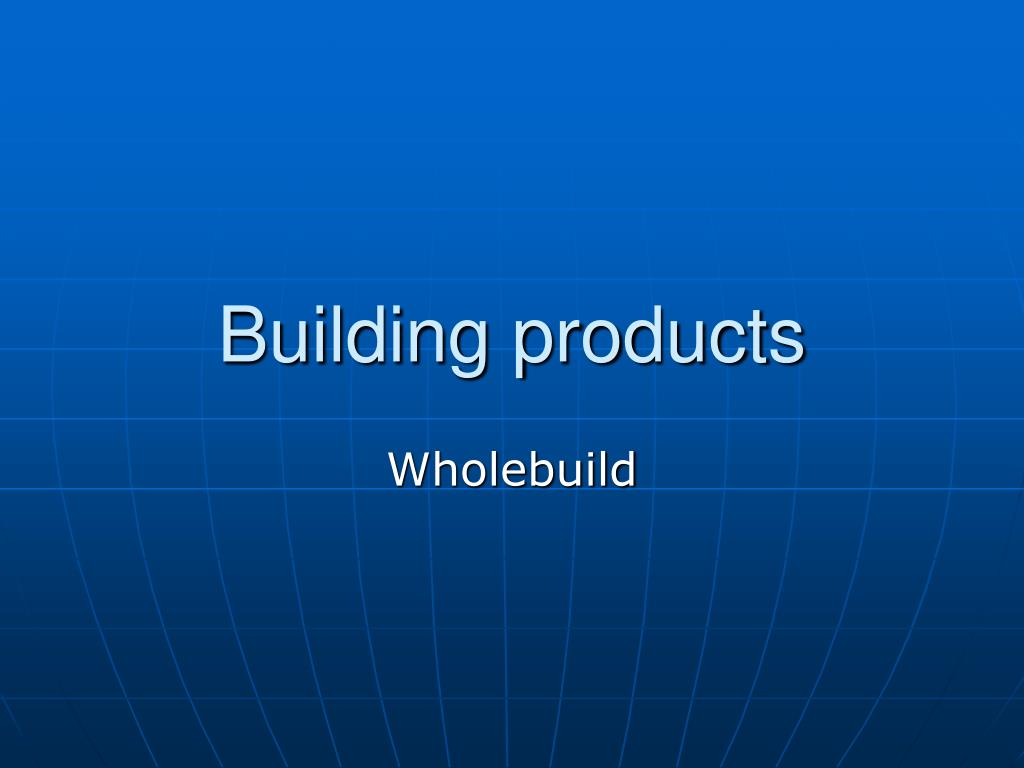 building products l.