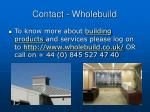 contact wholebuild