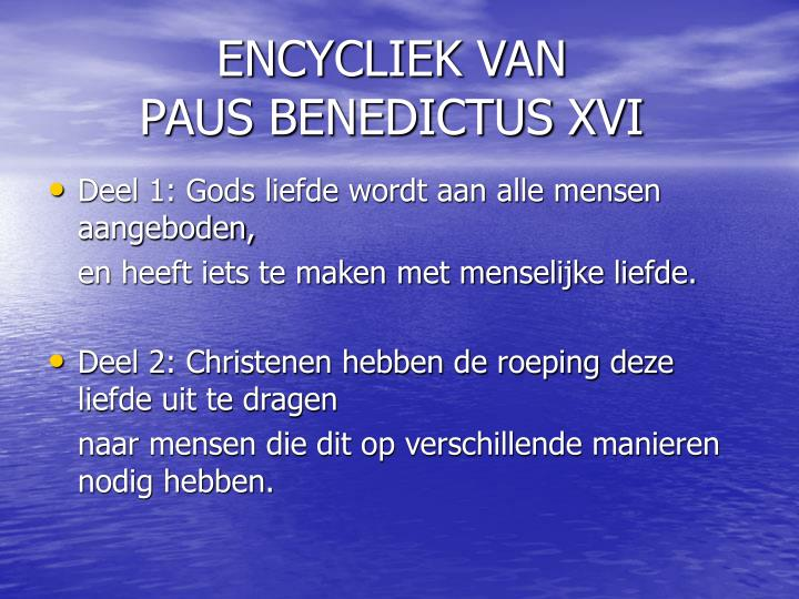 Encycliek van paus benedictus xvi