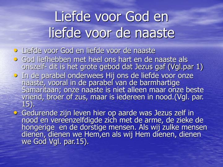Liefde voor God en