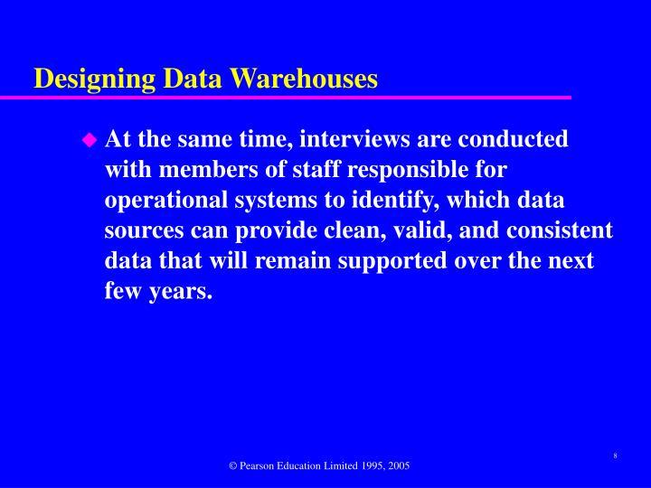 Designing Data Warehouses