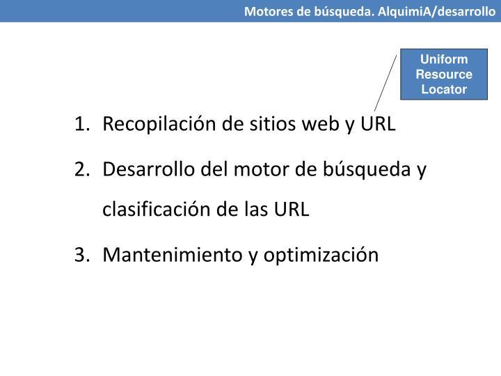 Recopilación de sitios web y URL