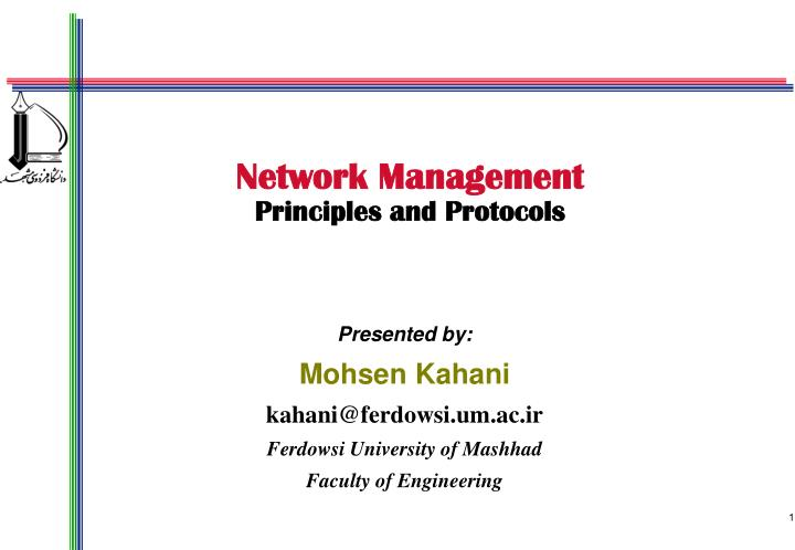 network management principles and protocols n.