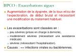 bpco exacerbations aigues